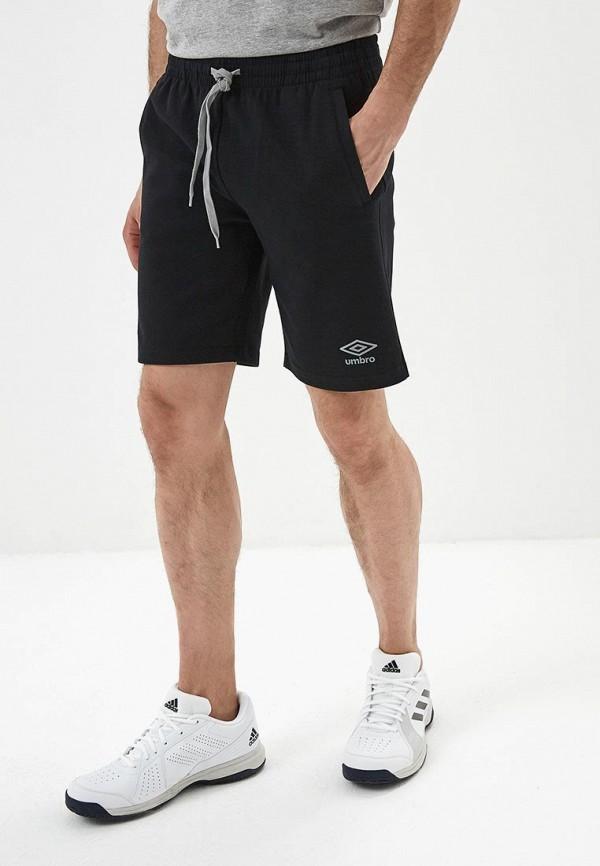мужские спортивные спортивные шорты umbro, черные