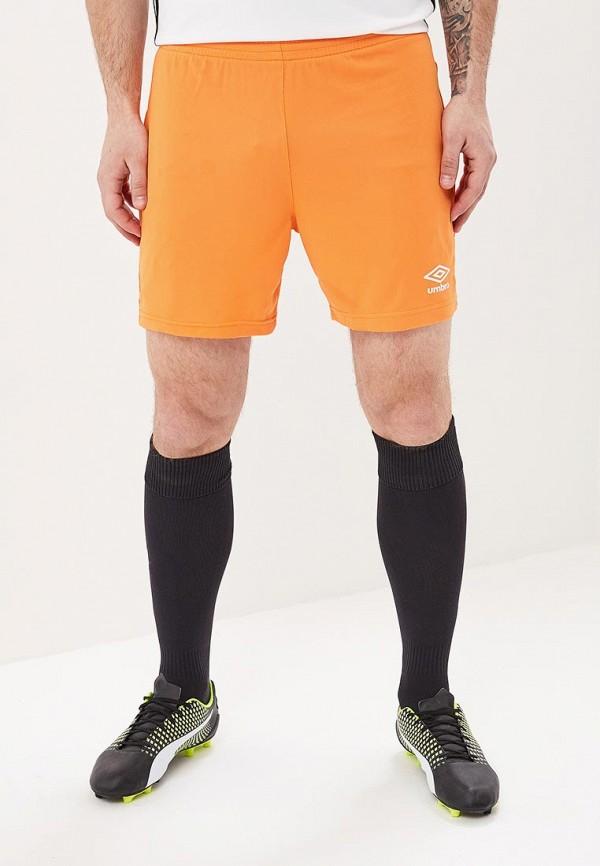 мужские спортивные спортивные шорты umbro, оранжевые