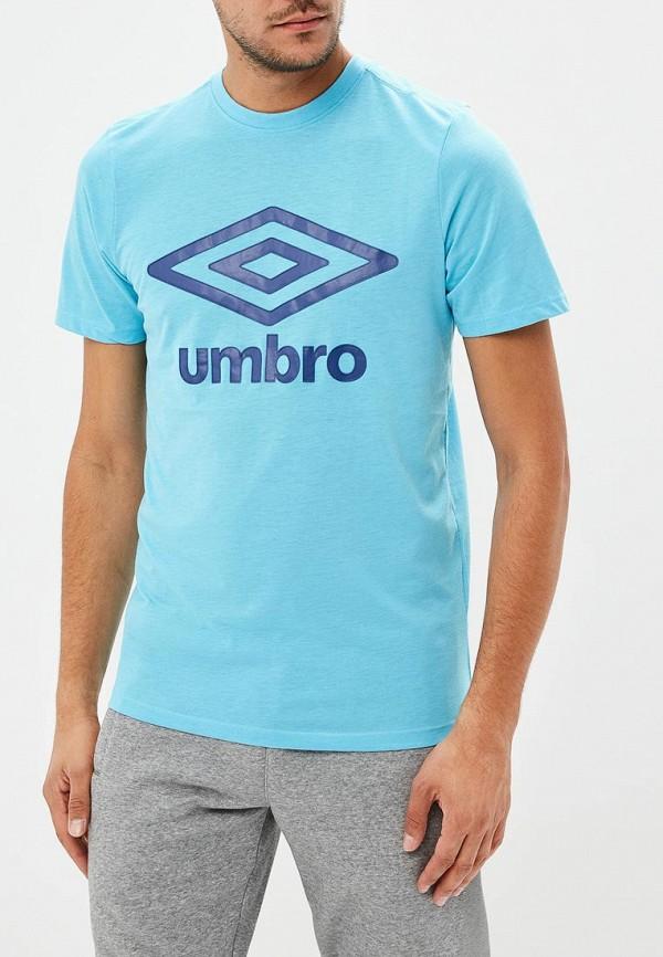 Купить Футболка Umbro, LRG LOGO COTON TEE, um463emfkb64, голубой, Осень-зима 2018/2019