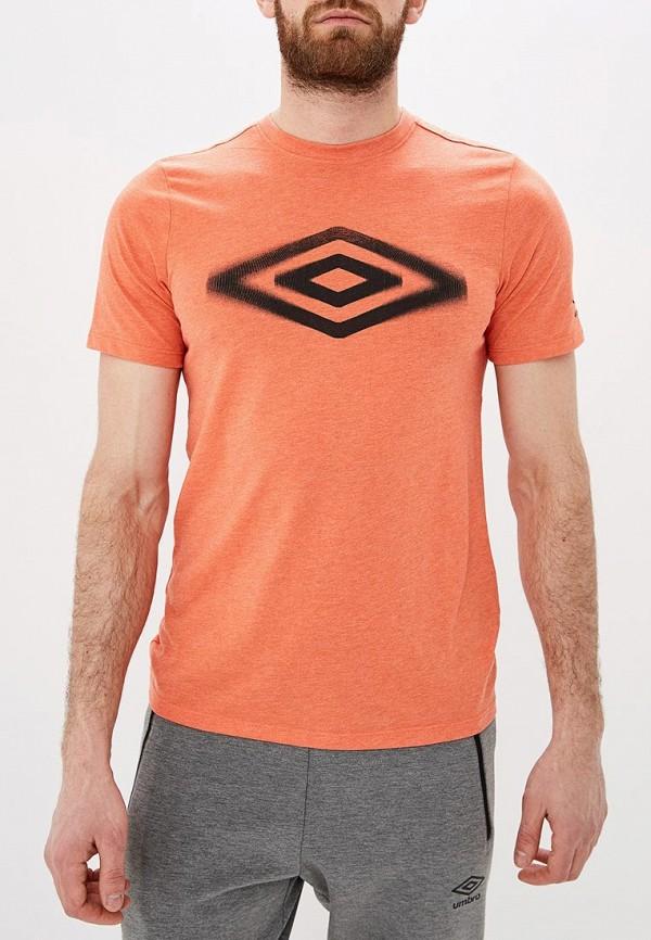 мужская спортивные футболка umbro, оранжевая