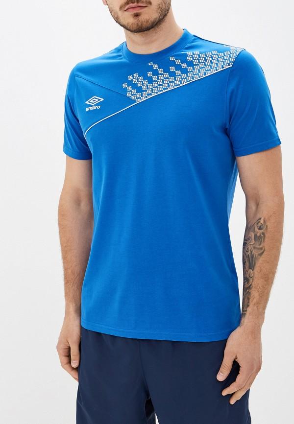 Купить Мужскую футболку Umbro синего цвета