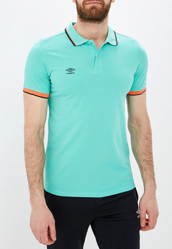 Фото - мужское поло Umbro бирюзового цвета