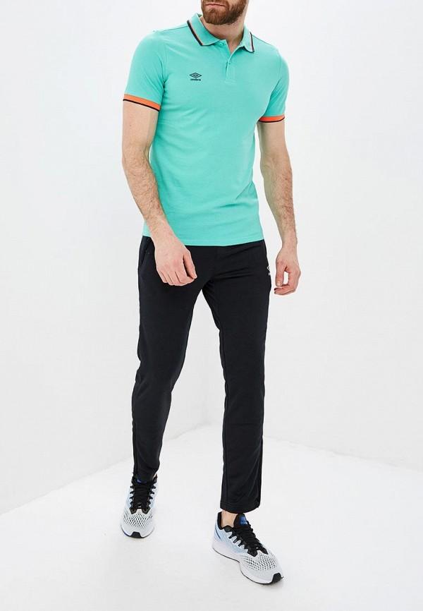 Фото 2 - мужское поло Umbro бирюзового цвета