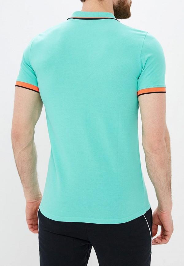 Фото 3 - мужское поло Umbro бирюзового цвета