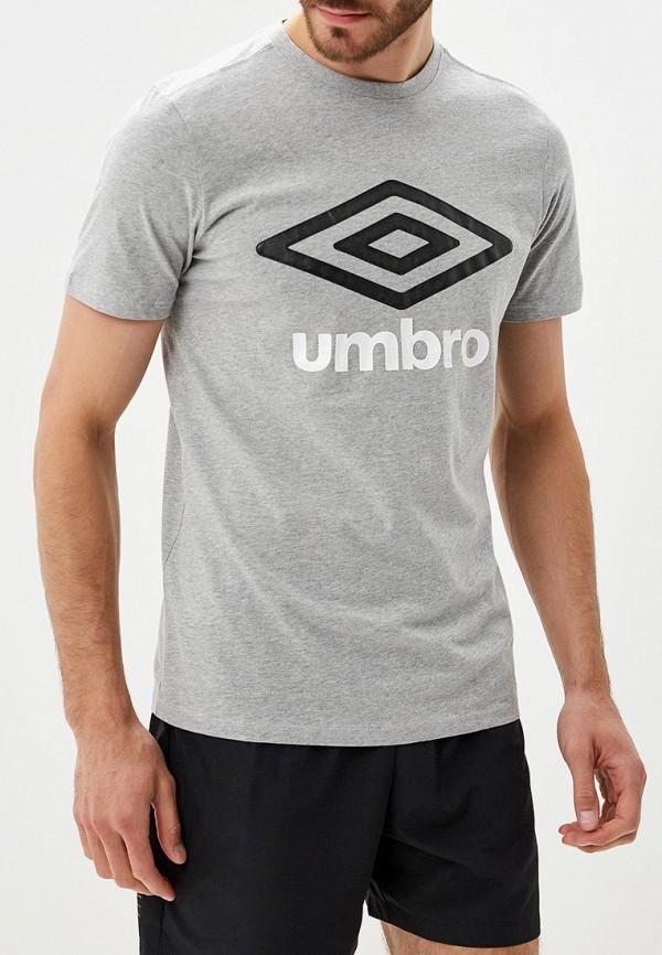 Купить Мужскую футболку Umbro серого цвета
