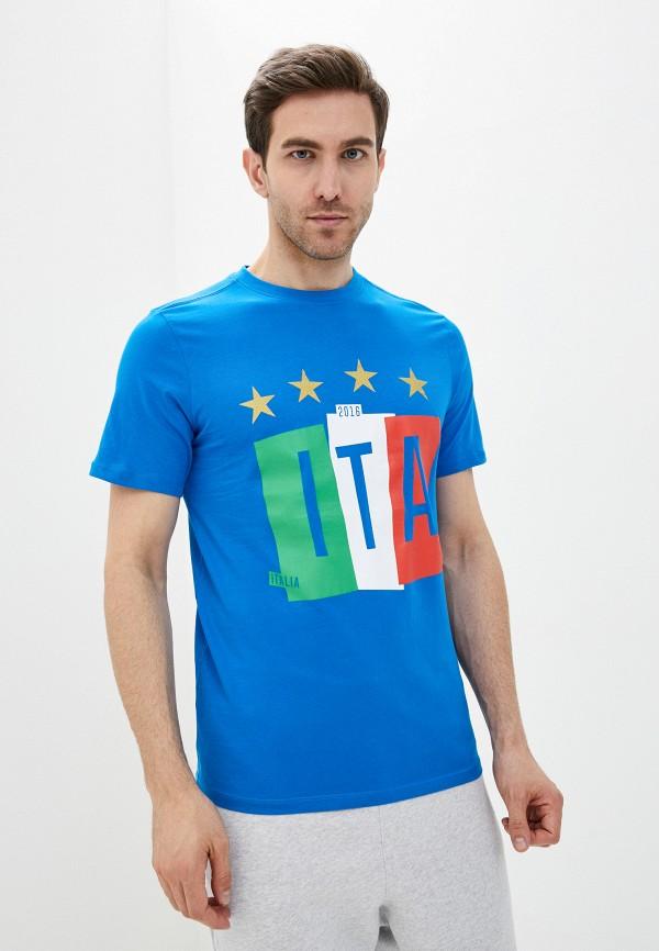 мужская футболка umbro, голубая