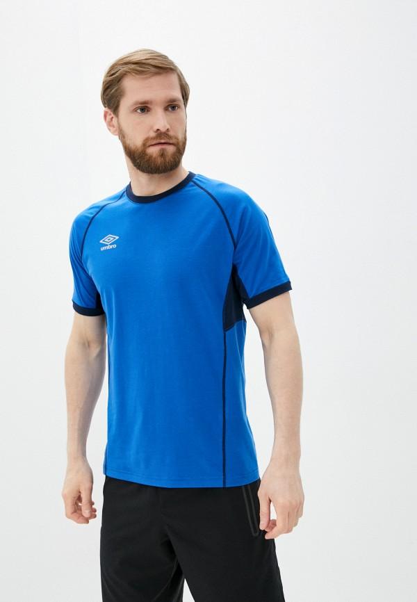 мужская футболка с коротким рукавом umbro, синяя