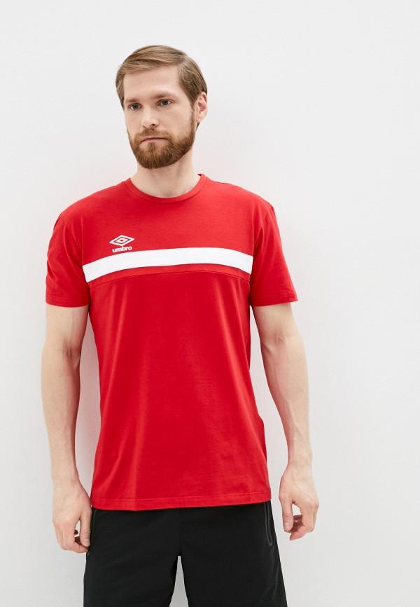 мужская футболка с коротким рукавом umbro, красная