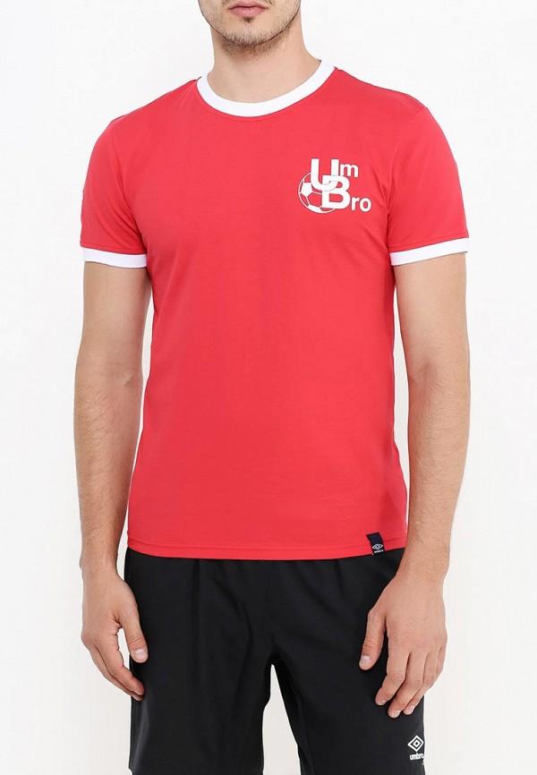 мужская футболка umbro, красная