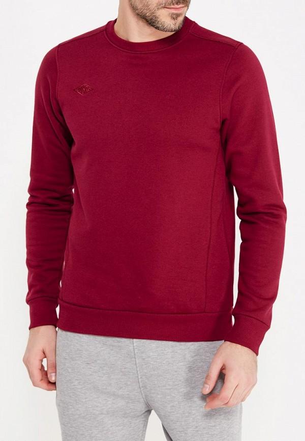 мужской свитшот umbro, бордовый