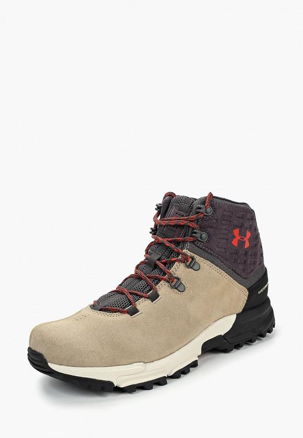 мужские ботинки under armour, бежевые