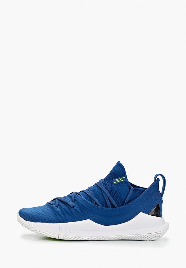 Купить Низкие кроссовки, Кроссовки Under Armour, UA Curry 5, un001amfcqd2, синий, Весна-лето 2019
