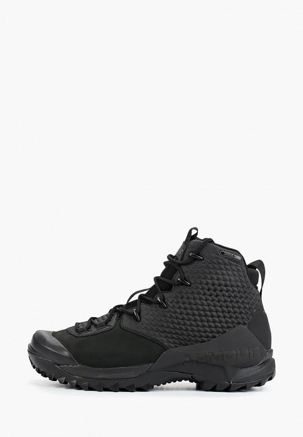 мужские ботинки under armour, черные