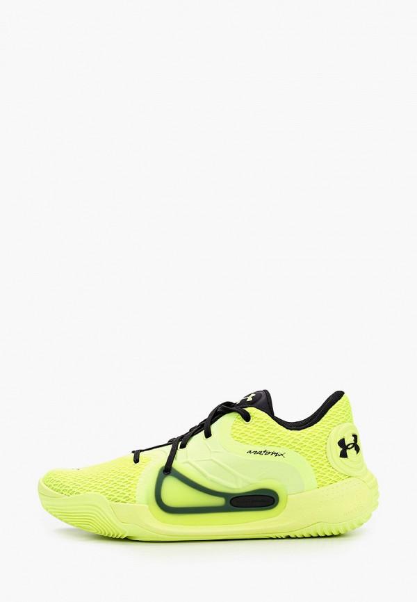 мужские низкие кроссовки under armour, желтые