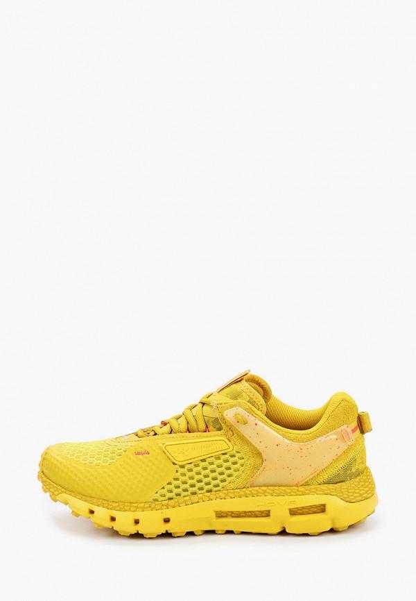 женские кроссовки under armour, желтые