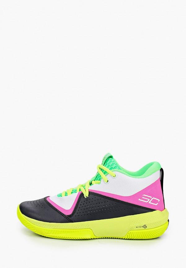 женские кроссовки under armour, разноцветные