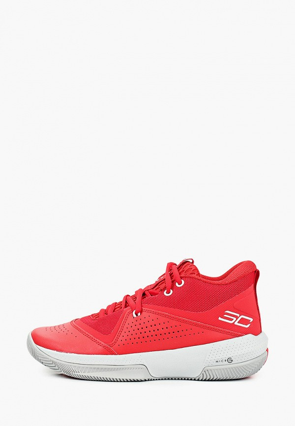 женские кроссовки under armour, красные
