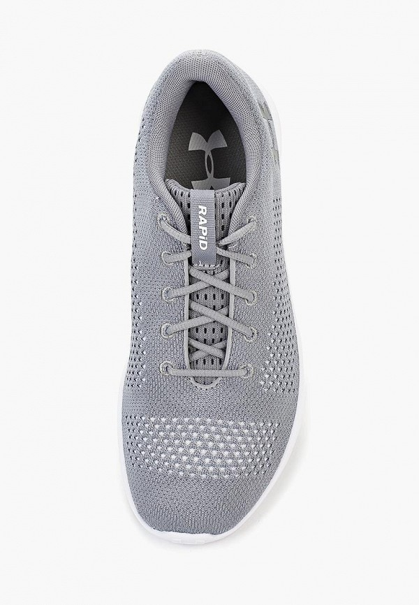 Фото 4 - женские кроссовки Under Armour серого цвета
