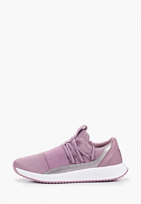 женские кроссовки under armour, фиолетовые