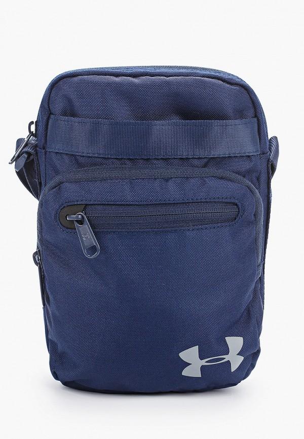 женская сумка через плечо under armour, синяя