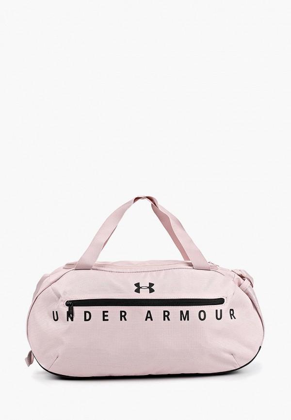 женская спортивные сумка under armour, розовая