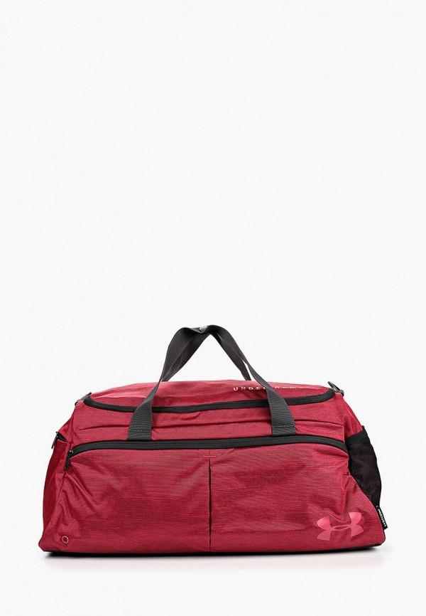 женская сумка under armour, бордовая