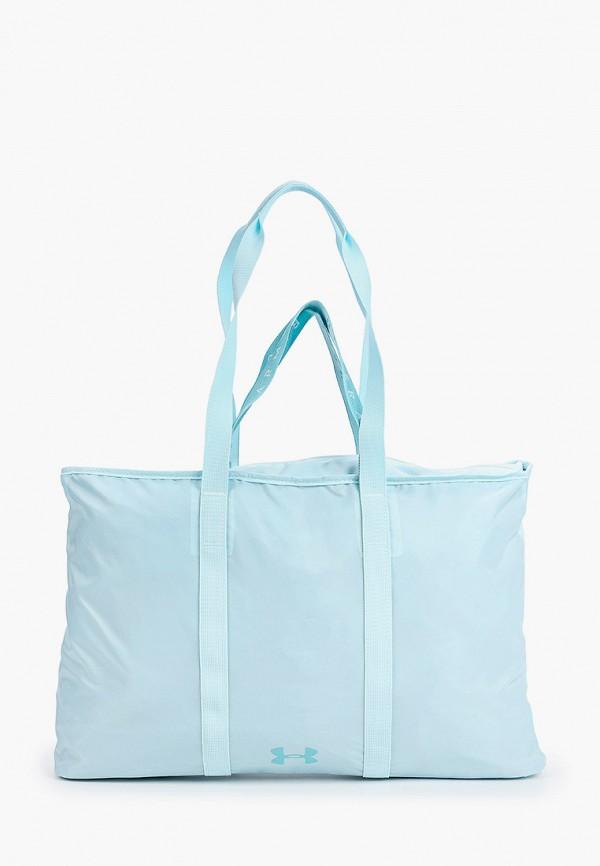 женская сумка-шоперы under armour, голубая
