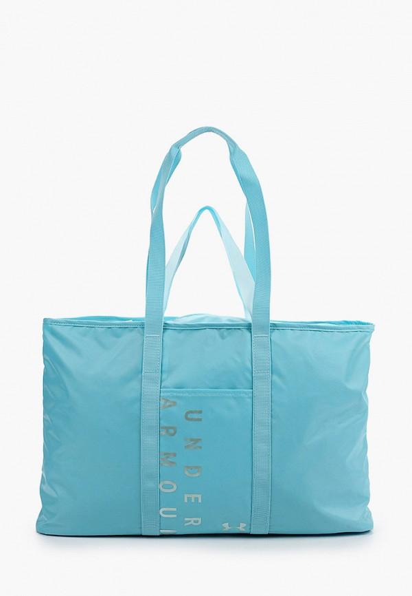 женская спортивные сумка under armour, голубая