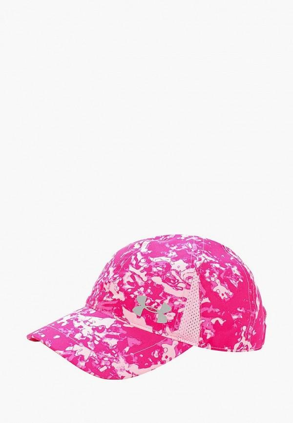 бейсболка under armour для девочки, розовая