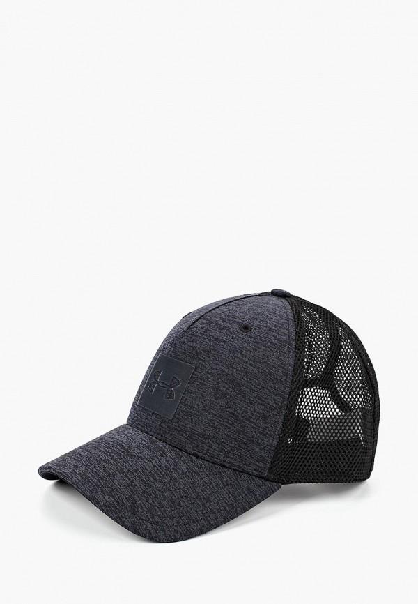 Купить Бейсболка Under Armour, Men's Closer Trucker Cap Upd, un001cmbvbd3, серый, Осень-зима 2018/2019