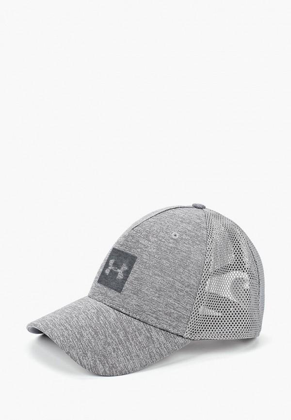 Купить Бейсболка Under Armour, Men's Closer Trucker Cap Upd, un001cmbvbd4, серый, Осень-зима 2018/2019