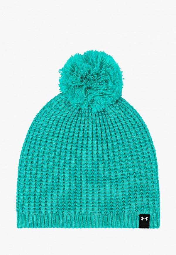 женская шапка under armour, зеленая