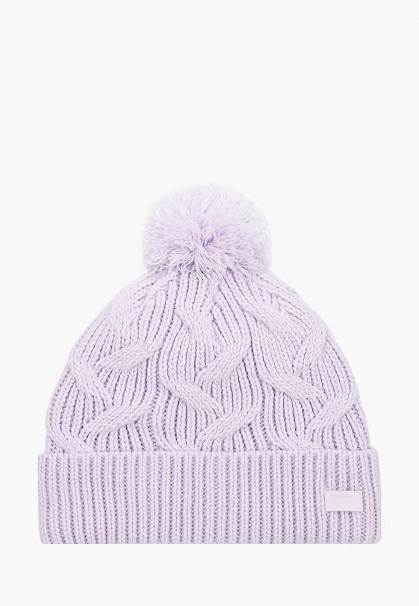 женская шапка under armour, фиолетовая