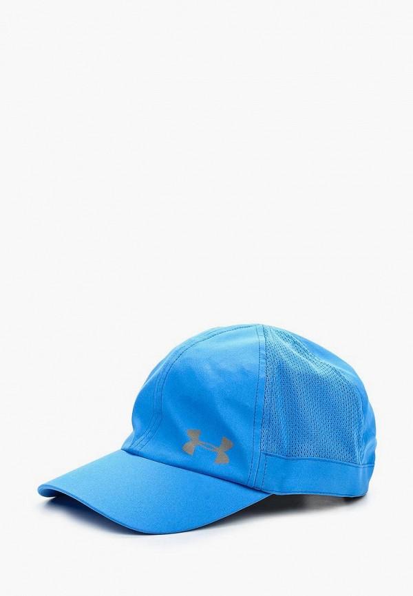 женская бейсболка under armour, голубая