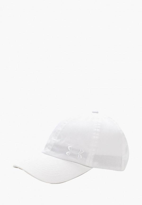 Купить Бейсболка Under Armour, Armour Solid Cap, un001cwxrp75, белый, Осень-зима 2017/2018