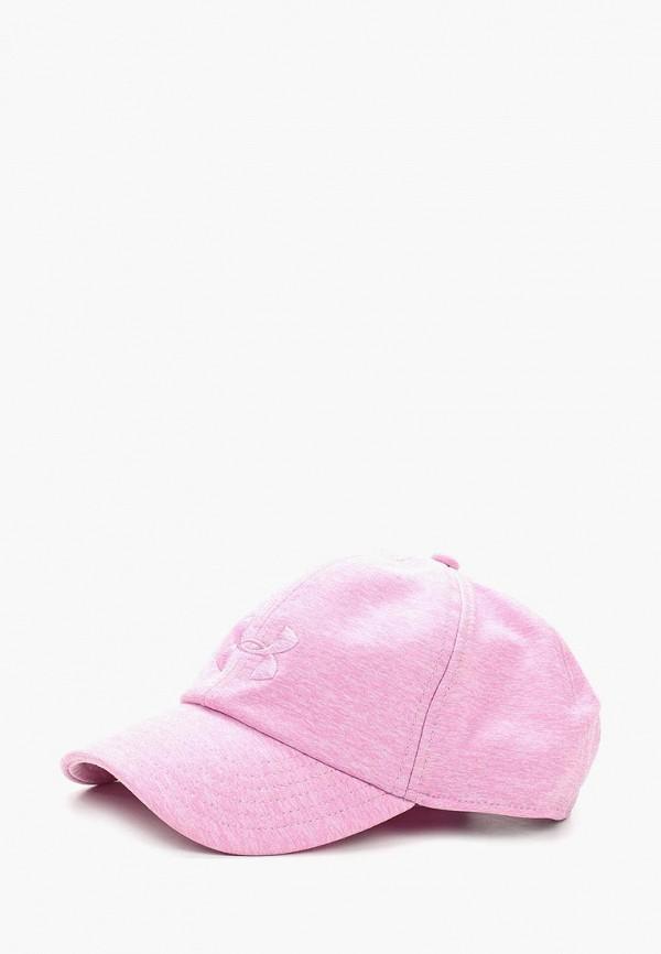 женская бейсболка under armour, розовая