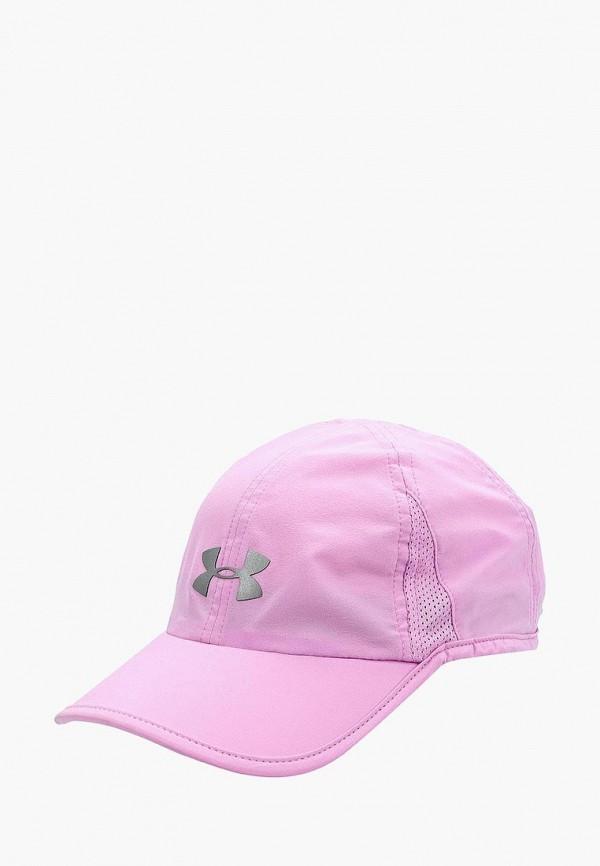женская бейсболка under armour, фиолетовая