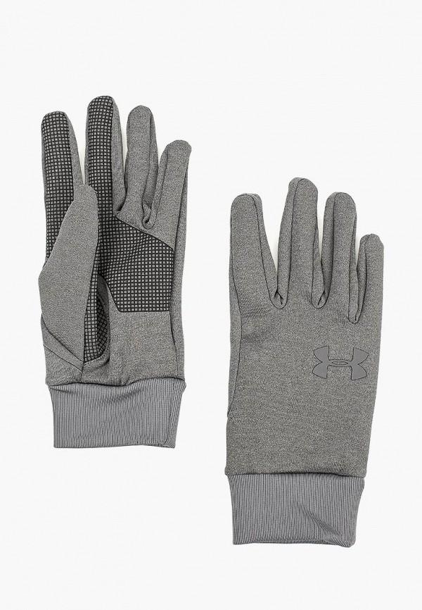 мужские перчатки under armour, серые