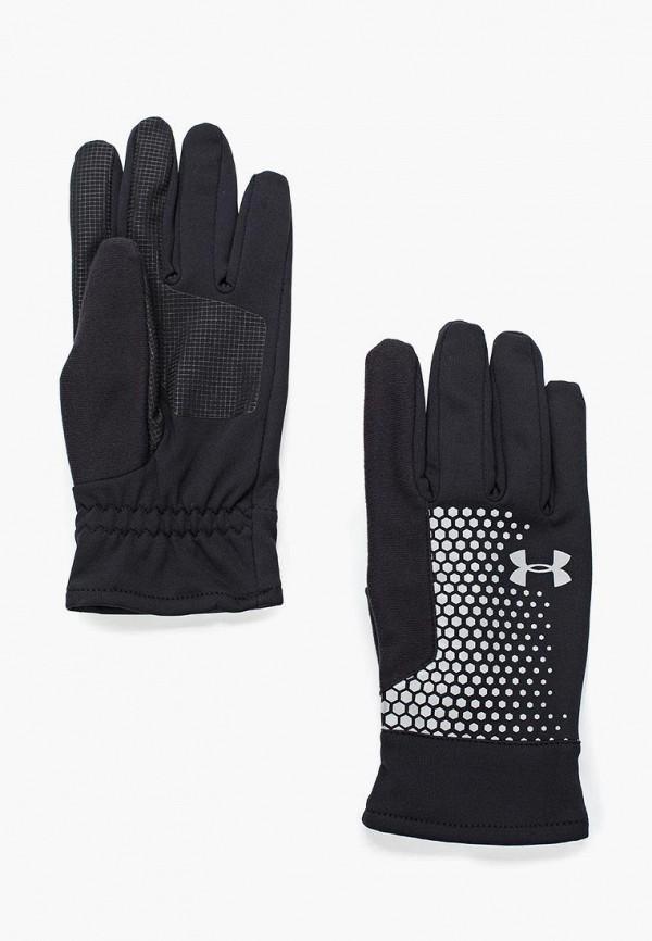 Купить Перчатки Under Armour, Men's Threadborne Run Glove, UN001DMXRP28, черный, Осень-зима 2017/2018