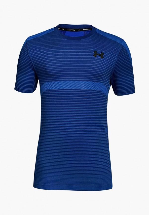 спортивные футболка under armour для мальчика, синяя