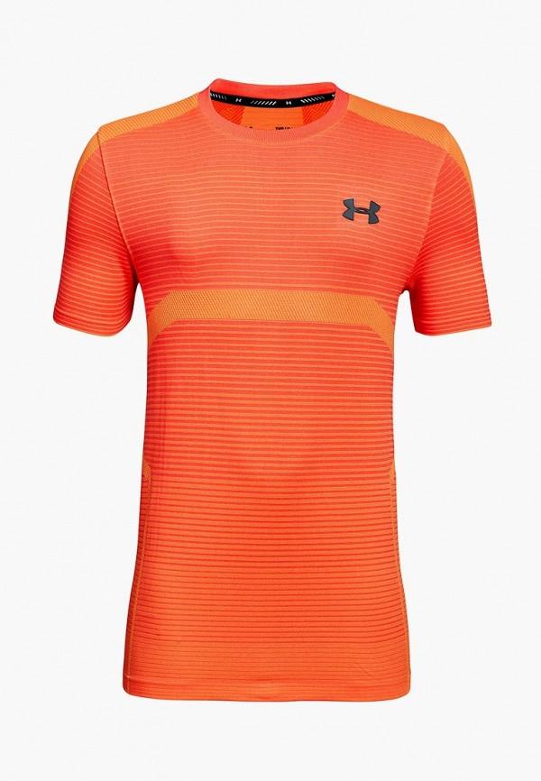 спортивные футболка under armour для мальчика, оранжевая