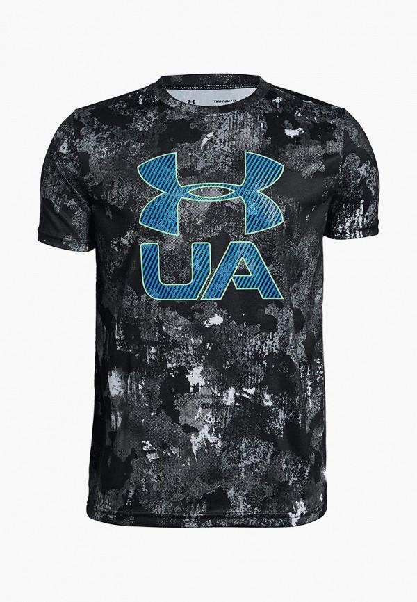Купить Футболка спортивная Under Armour, Printed Crossfade Tee, un001ebcdww9, черный, Осень-зима 2018/2019
