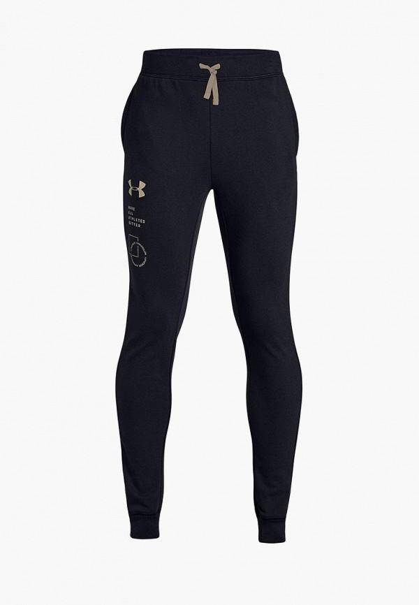 спортивные спортивные брюки under armour для мальчика, черные