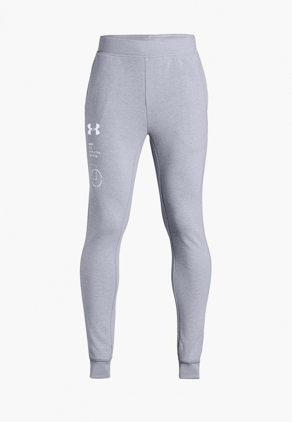спортивные спортивные брюки under armour для мальчика, серые