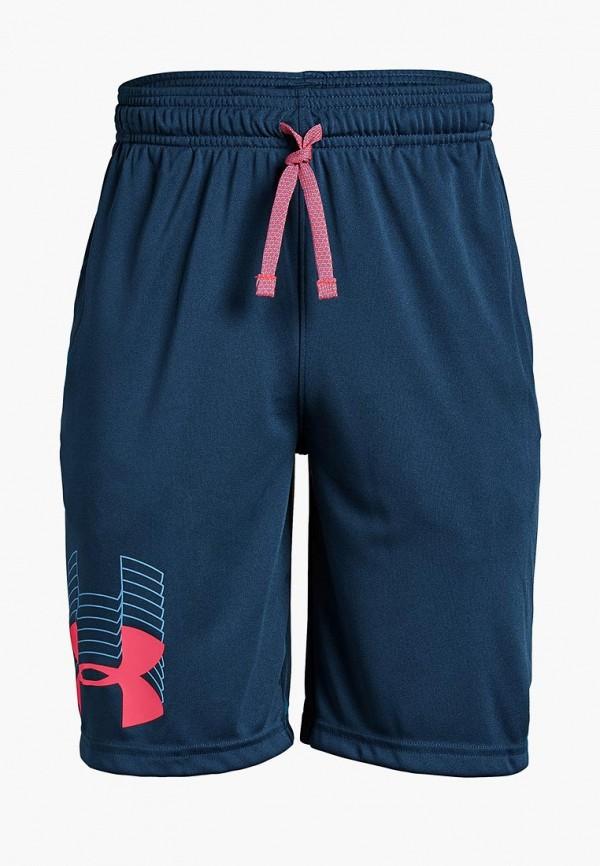 Купить Шорты спортивные Under Armour, Prototype Logo Short, un001ebdvcq3, синий, Весна-лето 2019
