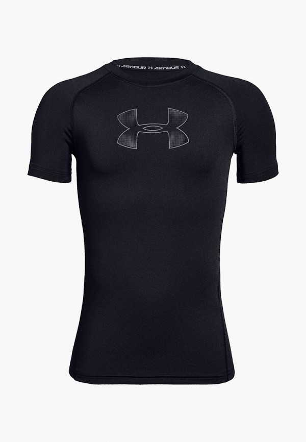 спортивные футболка under armour для мальчика, черная