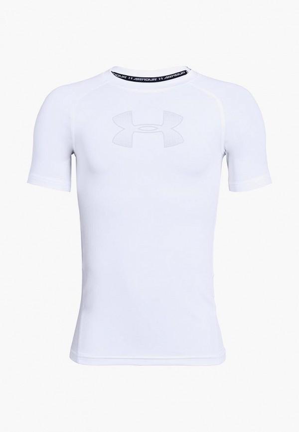 спортивные футболка under armour для мальчика, белая