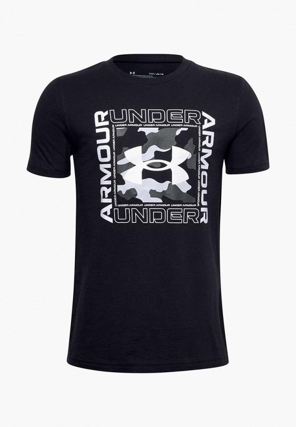 футболка under armour для мальчика, черная