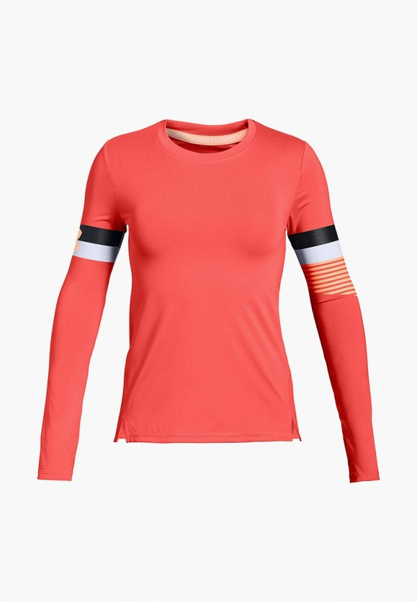 Купить Лонгслив Under Armour, HeatGear Armour Long Sleeve, un001egcdwv0, коралловый, Осень-зима 2018/2019