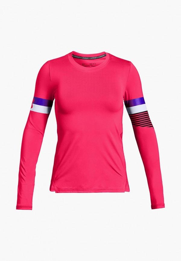 Купить Лонгслив спортивный Under Armour, HeatGear Armour Long Sleeve, un001egcdwv1, розовый, Осень-зима 2018/2019